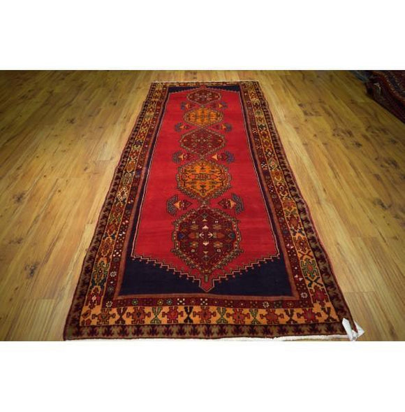 Fascinating 4x10 Authentic Hand-Knotted Rug