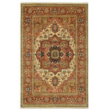 Harooni Rugs - Exotic 10x14 Authentic Hand Knotted Serapi Rug - India