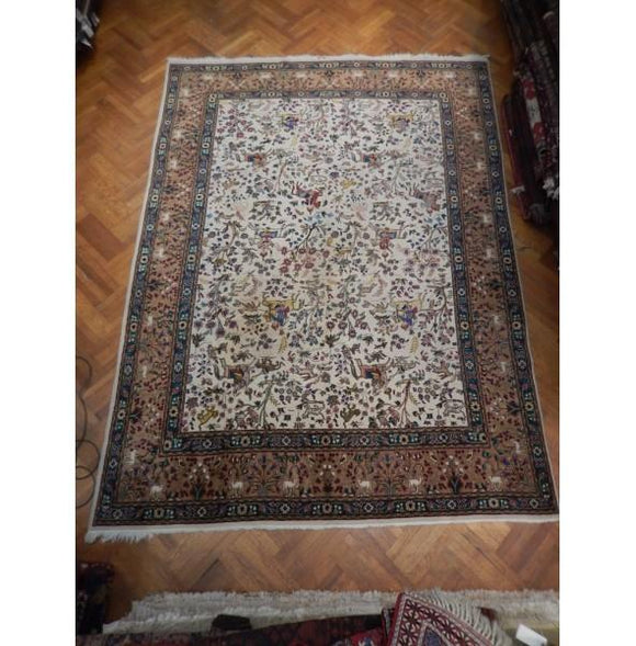 10x13 Authentic Hand Knotted Semi-Antique Persian Hunting Rug - Iran