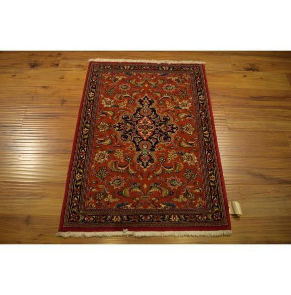 3x4 Authentic Hand Knotted High End Persian Ghom Rug - Iran