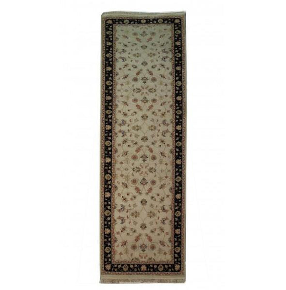 Dazzling 2x8 Authentic Hand Knotted Vegetable Dyed Chobi Runner - India