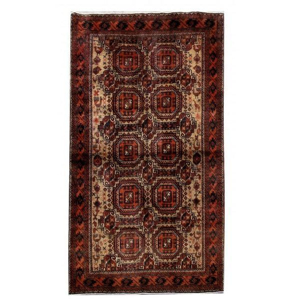 4x7 Authentic Hand Knotted Persian Baluch Rug - Iran