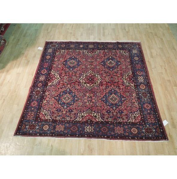 7x7 Authentic Hand Knotted Fine Persian Lilihan Sarouk Rug - Iran