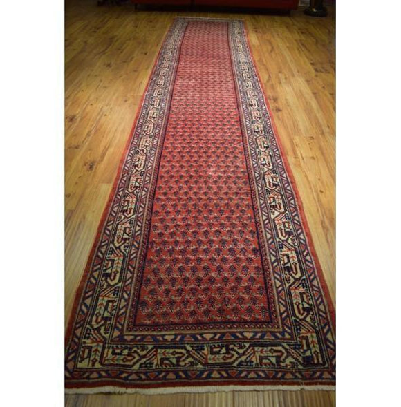4x17 Authentic Hand Knotted Persian Mir Sarouk Runner - Iran