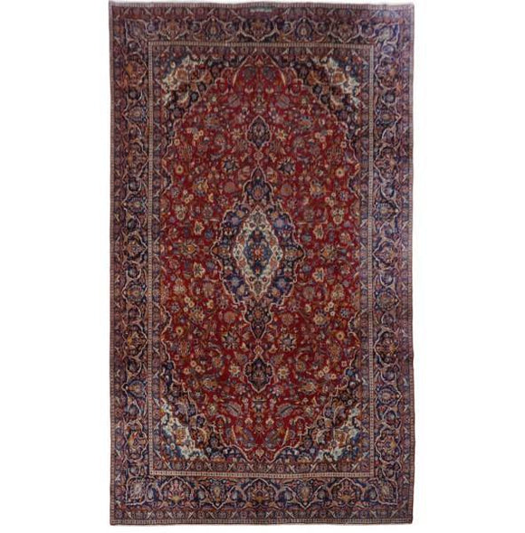 10x16 Authentic Hand-knotted Persian Kashan Rug - Iran