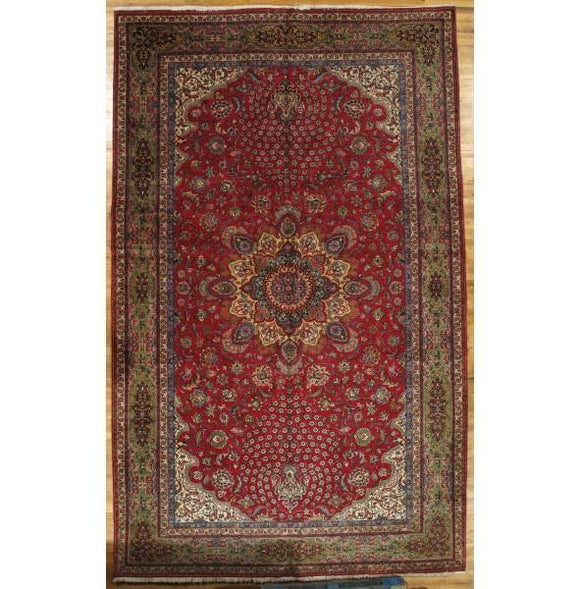 10x16 Authentic Hand-Knotted Fine Persian Tabriz Rug - Iran