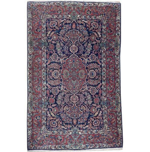 5x7 Authentic Handmade Antique Persian Kashan Rug - Iran