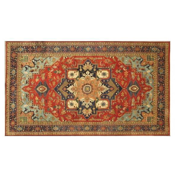 Dazzling 13x21 Authentic Hand-Knotted Serapi Rug - India