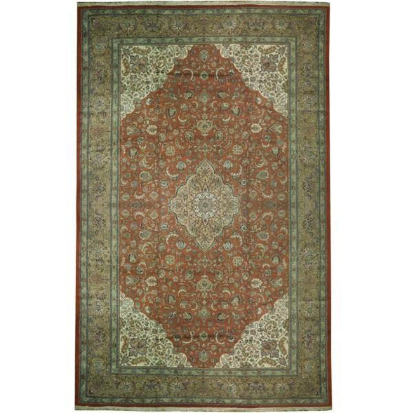 13x20 Authentic Handmade Persian Tabriz Rug-Iran