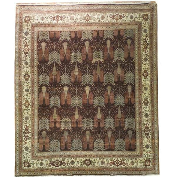 Radiant 12x14 Authentic Handmade Chobi Peshawar Rug - Pakistan