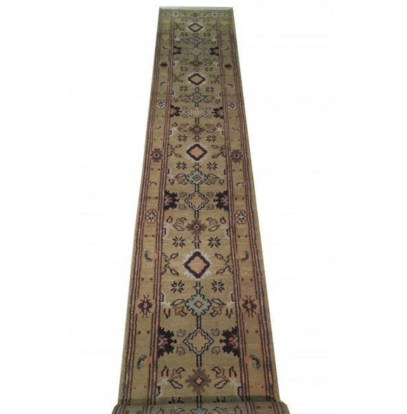 3x20 Authentic Hand Knotted Mahal Runner - India