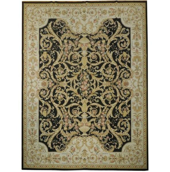 10x13 Authentic Handmade Needlepoint Flat Weave Rug - China