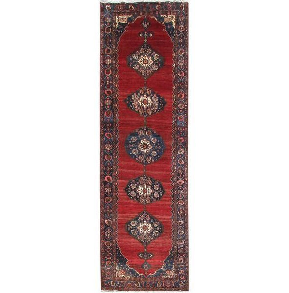 Luxurious 6x18 Authentic Hand-knotted Persian Hamadan Rug - Iran