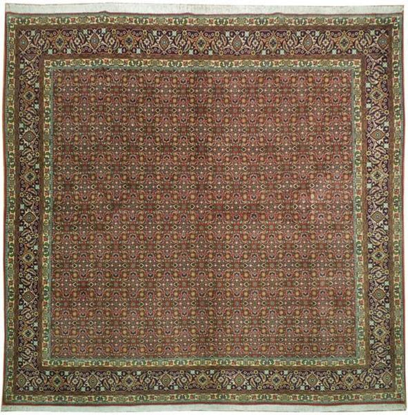 10x9 Authentic Handmade Square Persian Bijar Rug - Iran