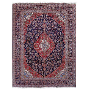10x14 Authentic Hand Knotted Persian Kashan Rug - Iran
