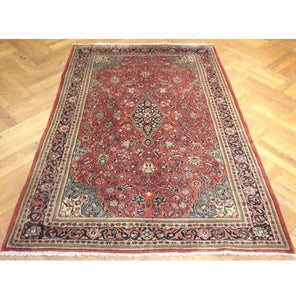 4x7 Authentic Handmade Persian Sarouk Rug-Iran