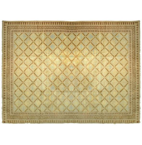 Dazzling 14x20 Authentic Hand-Knotted Transitional Jaipur Rug - India