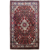 Harooni Rugs - Pristine 4x5 Authentic Hand-knotted Persian Hamadan Rug - Iran