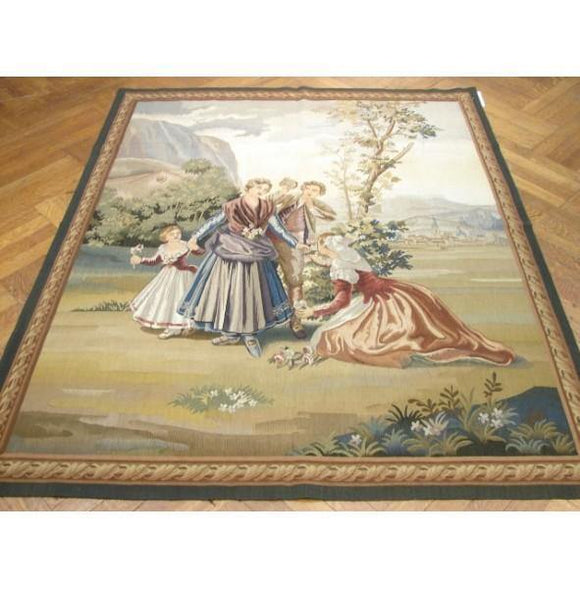 5x6 Authentic Handmade 17th Century Style Tapestry Rug-China
