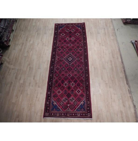 4x11 Authentic Hand Knotted Semi-Antique Persian Josheghan Rug - Iran