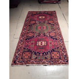 5x10 Authentic Hand Knotted Semi-Antique Persian Hamadan Runner - Iran