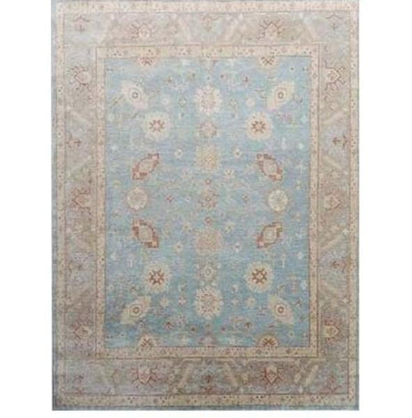 Harooni Rugs - Dazzling 6x9 Authentic Hand Knotted Oushak Rug - India