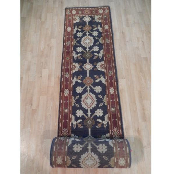 Dazzling 3x20 Authentic Hand Knotted Mahal Runner - India