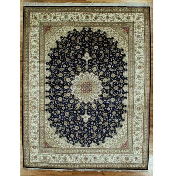10x12 Authentic Hand-Knotted High End Zhenping Collection Silk Rug - China