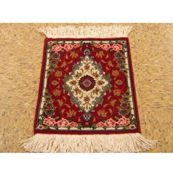 1x1 Authentic Handmade Persian Tabriz Rug-IRAN