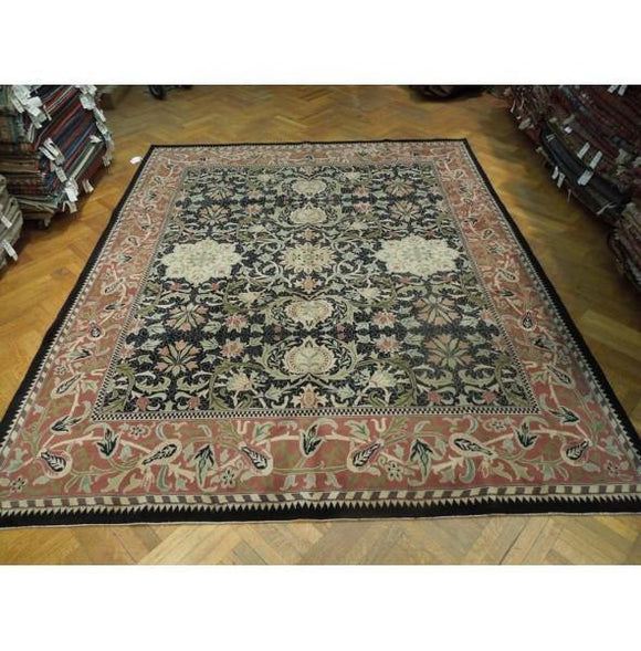 10x12 Authentic Hand Knotted Pre-Owned Agra Rug - India