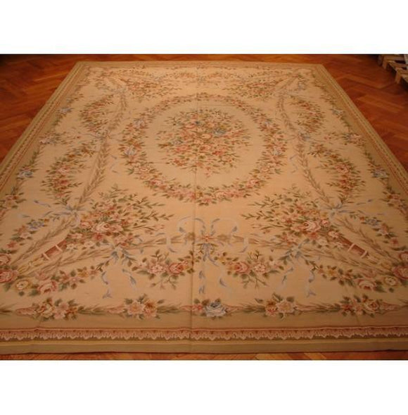 10x14 Authentic Handmade Aubusson Rug-China