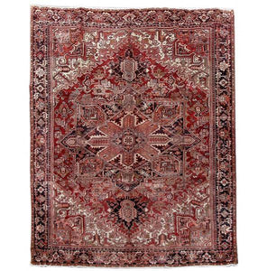 10x13 Authentic Hand Knotted Persian Heriz Rug - Iran