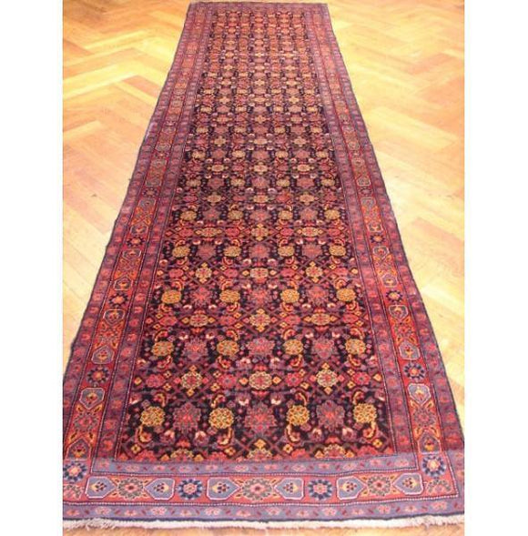 3x13 Authentic Handmade Persian Bidjar Runner Rug-IRAN