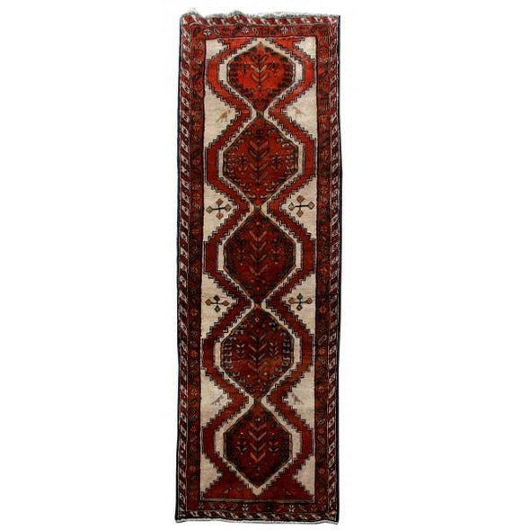 3x10 Authentic Hand Knotted Persian Ardebil Rug - Iran