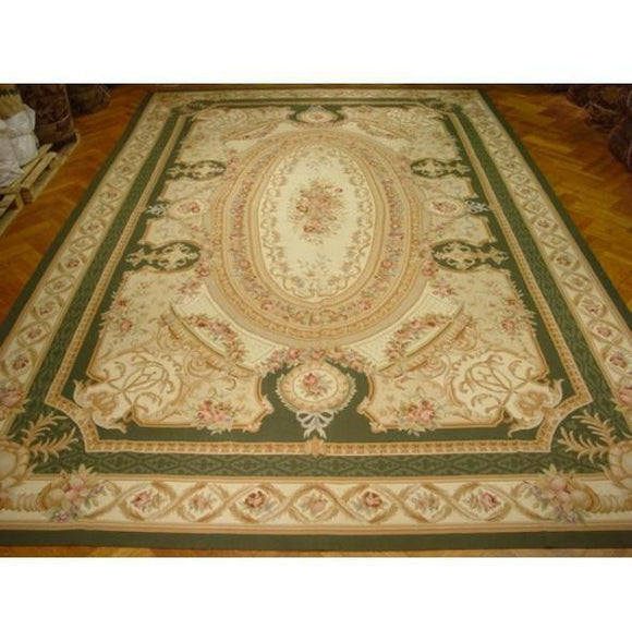 12x18 Authentic Handmade Aubusson Rug