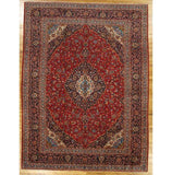 10x13 Authentic Hand-Knotted Fine Quality Persian Kashan Rug - Iran