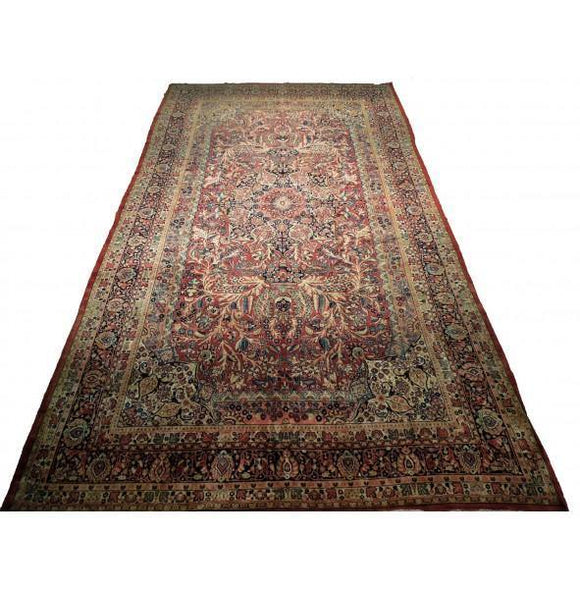 10x18 Authentic Hand-Knotted Fine Quality Persian Soltanabad Rug - Iran