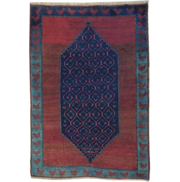 5x7 Authentic Hand Knotted Antique Caucasian Kazak Rug - Caucsian Region