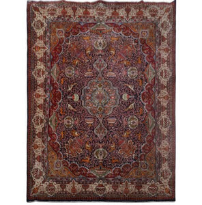 10x13 Authentic Hand-knotted Persian Signed Kashmar Rug - Iran