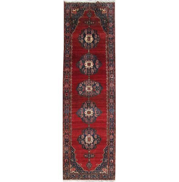 Luxurious 6x20 Authentic Hand-knotted Persian Hamadan Rug - Iran