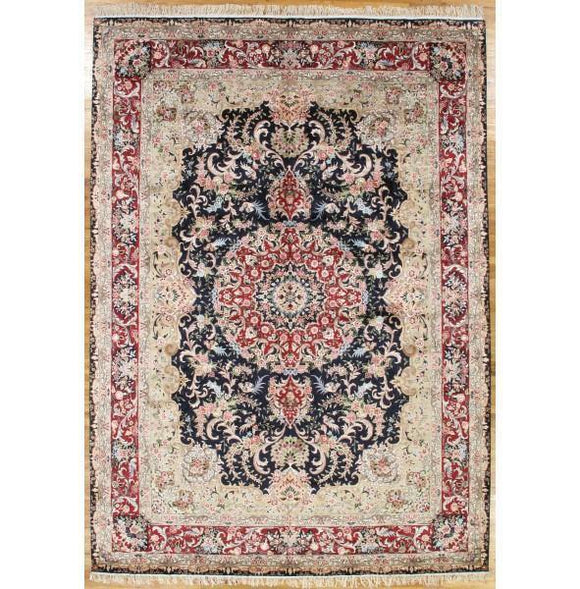 10x14 Authentic Hand-Knotted Artificial Silk French Aubusson Rug - China