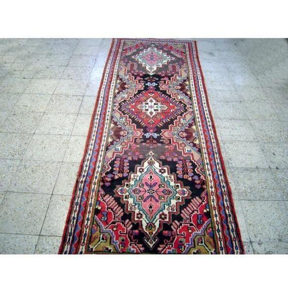 3x11 Authentic Handmade Persian Nahavand Runner-Iran