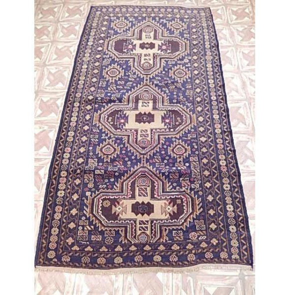 Luxurious 8x7 Authentic Hand Knotted Baluchi Rug - Pakistan