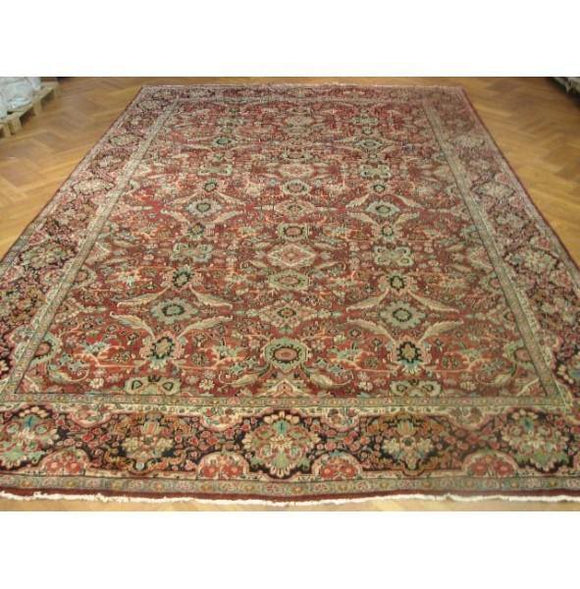 11x17 Authentic Handmade Persian mahal Rug-Iran