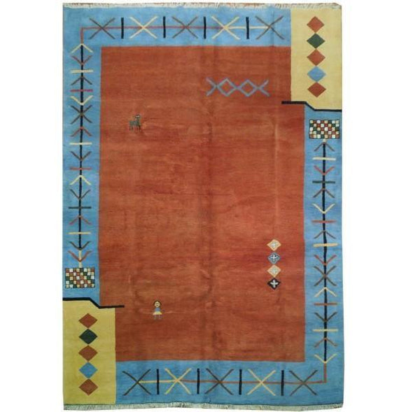 10x14 Authentic Handmade Gabbeh Rug-India