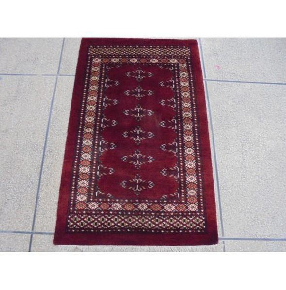 Luxurious 4x3 Authentic Hand Knotted Mori Bokhara Rug - Pakistan