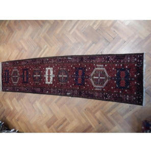 Harooni Rugs - Premium 4x15 Authentic Hand Knotted Persian Karaja Runner - Iran