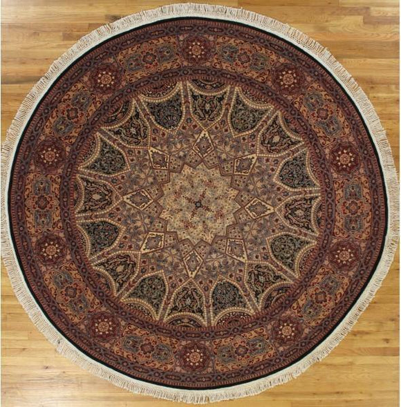 8x8 Authentic Hand-Knotted Wool & Silk Fine Quality Isfahan Rug - China