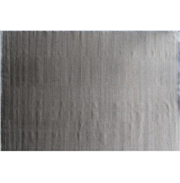 12x18 CONTEMPORARY PLAIN GRAY Wool Rug - India - bestrugplace