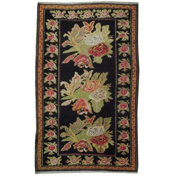 5x8 Authentic Hand Knotted Antique Caucasian Kazak Rug - Caucsian Region